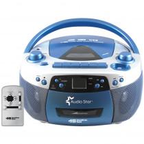HEC5050ULTRA - Hamilton Buhl Audiostar Boombox Radio Cd Usb Cass Mp3 Converter in Listening Devices