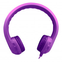 HECKIDSPPL - Purple Indestructible Headphone Flexphone Foam in Headphones