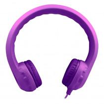 HECKIDSPPL - Purple Indestructible Headphone Flexphone Foam in Headphones