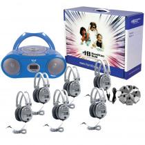 HECWNCCD3856SV - Basic Cassette/ Cd/ Am - Fm Listening Center 6 Stations in Listening Centers