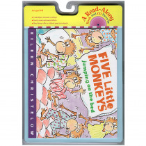 HO-0618732764 - Carry Along Book & Cd Five Little Monkeys Jumping in Books W/cd