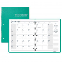 HOD26309 - Academic Monthly Planner 8 1/2 X 11 Bright Green Wirebound in Plan & Record Books