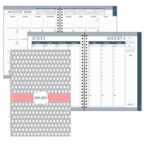 "Monthly and Weekly Academic Calendar Planner, Dot Design Hard Cover, August-July, 7 x 9"" - HOD29593 