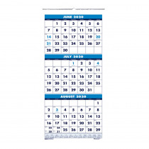 "Vertical Academic 3-Month Wall Calendar, June-July, 8 x 17"" - HOD3645 