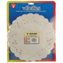 HYG10081 - Doilies 8 White Round 100/Pk in Doilies