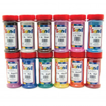 HYG29129 - Bucket O Sand 12 Asstd Colors 1 Lb Each in Sand