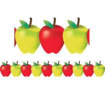 HYG33650 - Red And Green Apples Border in Border/trimmer