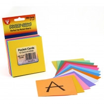 HYG43317 - Mighty Brights Pocket Cards 3X3 8 Ea Of 12 Colors + 4 White in Pocket Charts