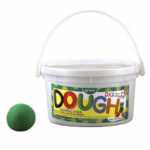 HYG48302 - Dazzlin Dough Green 3 Lb Tub in Dough & Dough Tools