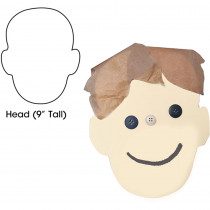 HYG68363 - Big Cut Outs 9In Head Shape 25Ct in Accents