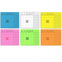 HYG87125 - Blank Bingo Cards Assorted Colors in Bingo