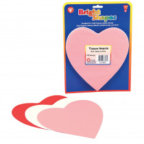 HYG88618 - Tissue Shapes 180Ct 6In Hearts In Red White & Pink in Tissue Paper