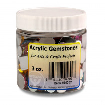Multicolor Acrylic Gemstones, 3 oz. - HYG94302 | Hygloss Products Inc. | Beads