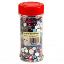 Hygloss Multicolor Acrylic Gemstones, 8 oz. - HYG94308 | Hygloss Products Inc. | Beads
