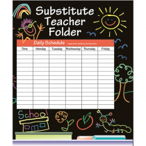 IF-468 - Substitute Folder Elem Kid-Drawn 9 X 11 W/ Pocket in Substitute Teachers