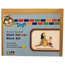 IMA4024 - Imagibricks Rainbow Blocks 24 Pc Set in Blocks & Construction Play