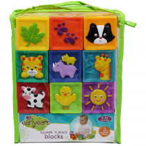 INPE00381 - Squeak N Stack Baby Blocks in Toys