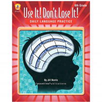 IP-6121 - Use It Dont Lose It Gr 6 Daily Language Practice in Books