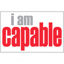ISM0002P - I Am Capable Poster in Inspirational