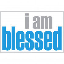 ISM0015P - I Am Blessed Poster in Inspirational