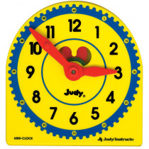 J-209052 - Judy Plastic Clock Class Pk 6-Pk 5 X 5 in Time