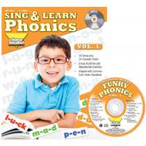 JMP125LK - Sing & Learn Phonics Book Cd Vol 1 in Book With Cassette/cd