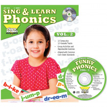 JMP126LK - Sing & Learn Phonics Book Cd Vol 2 in Book With Cassette/cd