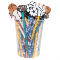 JRM52960 - Pencil And Eraser Topper Sports Writeons in Pencils & Accessories