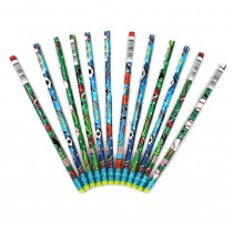 JRM7492B - Decorated Pencils Sports Asst in Pencils & Accessories