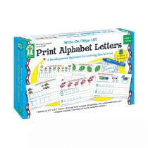 KE-846035 - Write On/Wipe Off Print Alphabet Letters in Dry Erase Sheets