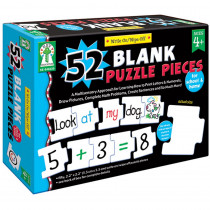 KE-846039 - Write-On/Wipe-Off 52 Blank Puzzle Pieces in Manipulatives