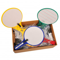KLS2223 - Kleenslate Round Classroom Kit Set 24 Paddles in Dry Erase Boards