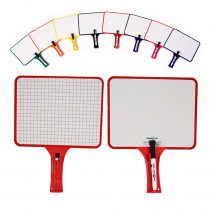 KLS50027044 - Rectangular Paddles Double Sided 32 Blank Graph in Dry Erase Boards