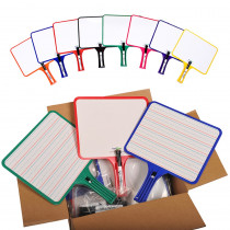 KLS5132 - Kleenslate Dry Erase Paddles 24Pk Rectangular Classroom Set in Dry Erase Boards