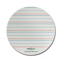Lined Round Dry-Erase Replacement Sheets, Pack of 8 - KLS7143 | Kleenslate Concepts Llc. | Dry Erase Sheets