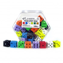 KOP10936 - 1In Foam Dot Dice 50/Tub in Dice