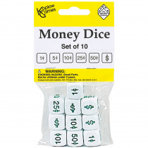 KOP12087 - Money Dice Set Of 10 in Dice