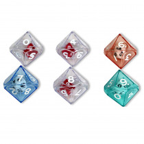 KOP12618 - 10 Sided Double Dice Set Of 6 in Dice