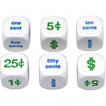 KOP13879 - Money Dice Set Of 6 20Mm in Dice
