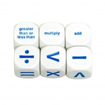 KOP13947 - Math Operation Dice Set Of 6 in Dice