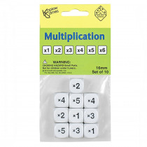 KOP18204 - Multiplication Dice Set Of 10 in Dice