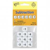 KOP18207 - Subtraction Dice Set Of 10 in Dice