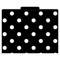 LAS1313F - File Folders Black & White Dots Functional File Folders in Folders