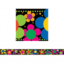 LAS957B - Neon Flower Power Border in Border/trimmer