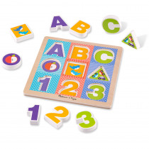 LCI1899 - Abc 123 Chunky Puzzle in Alphabet Puzzles