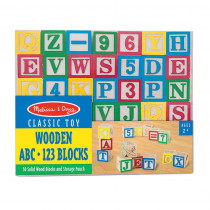 LCI1900 - Wooden Abc/123 Blocks in Blocks & Construction Play