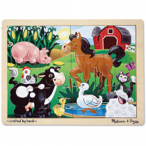LCI2934 - On The Farm Jigsaw in Wooden Puzzles
