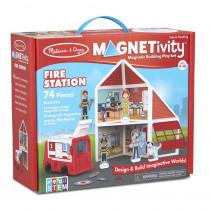 Magnetivity Magnetic Building Play Set: Fire Station - LCI30654 | Melissa & Doug | Pretend & Play