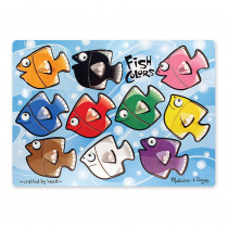 LCI3268 - Fish Colors Mix N Match Peg Puzzle in Knob Puzzles