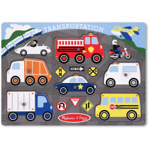 LCI3386 - Transportation Peg Puzzle in Knob Puzzles